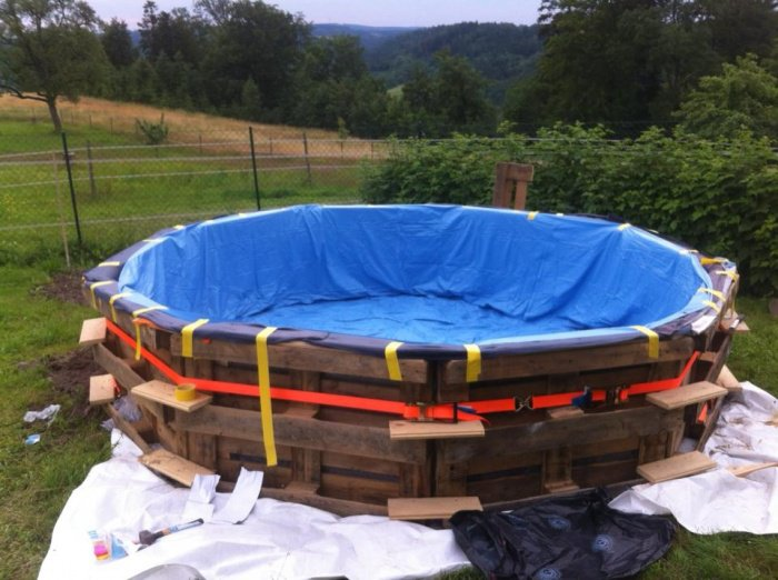 idee de genie piscine en palette