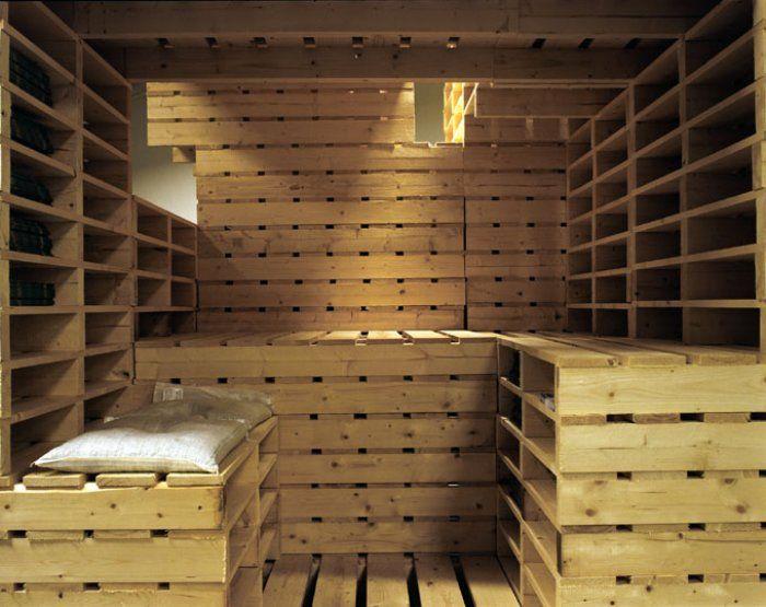 Sauna en palettes